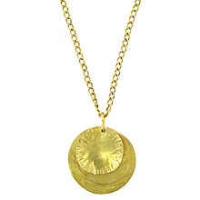 Buy Made Ibati Pendant Necklace, Gold Online at johnlewis.com