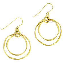 Buy Made Igonye Drop Earrings, Gold Online at johnlewis.com