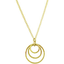 Buy Made Maguru Matatu Pendant Necklace, Gold Online at johnlewis.com