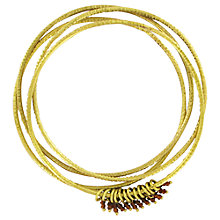 Buy Made Mubara Shanga Bangles, Gold Online at johnlewis.com