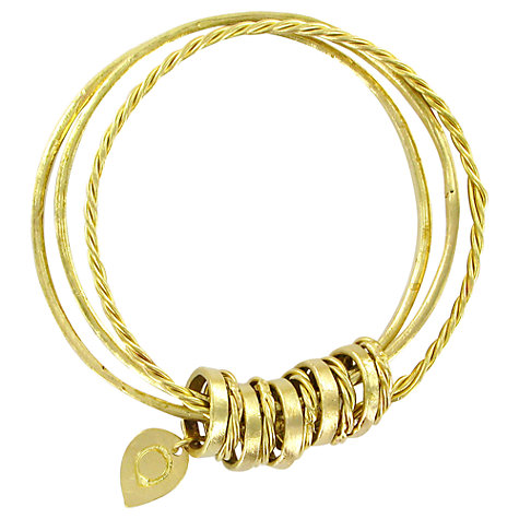 Buy Made Pindwa Ingi Bangles, Gold Online at johnlewis.com