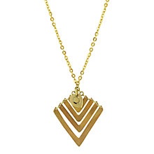 Buy Made Vii Imwe Pendant Necklace, Gold Online at johnlewis.com