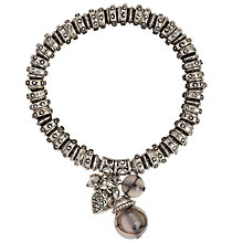 Buy John Lewis Facetted Bead Charm Bracelet, Silver Online at johnlewis.com