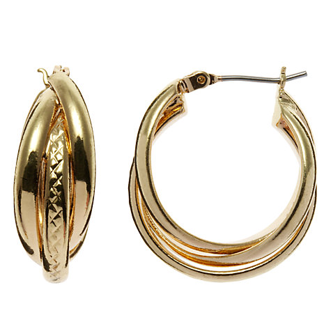 Buy John Lewis Twist Hoop Earrings Online at johnlewis.com