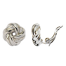 Buy John Lewis Twist Knot Clip Earrings Online at johnlewis.com