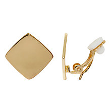 Buy John Lewis Square Clip Earrings, Gold Online at johnlewis.com