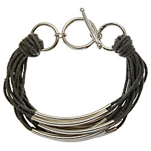 Buy John Lewis Friendship Bracelet, Grey Online at johnlewis.com