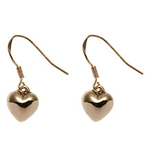 Buy John Lewis Heart Drop Earrings, Gold Online at johnlewis.com