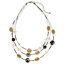 Buy John Lewis Beaded 3-Strand Illusion Necklace, Gold Online at johnlewis.com