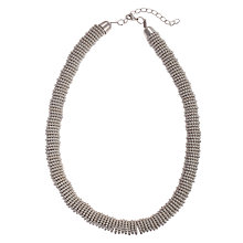 Buy John Lewis Effer Beaded Necklace, Silver Online at johnlewis.com