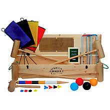 Buy Jaques Woodstock Croquet Set Online at johnlewis.com
