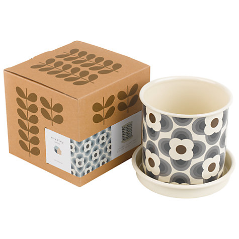 Buy Orla Kiely Gardening Plant Pot, Grey, Medium Online at johnlewis.com