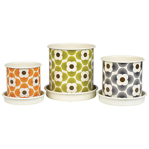 Buy Orla Kiely Gardening Plant Pot, Green, Large Online at johnlewis.com