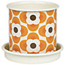 Orla Kiely Gardening Plant Pot, Orange, Small