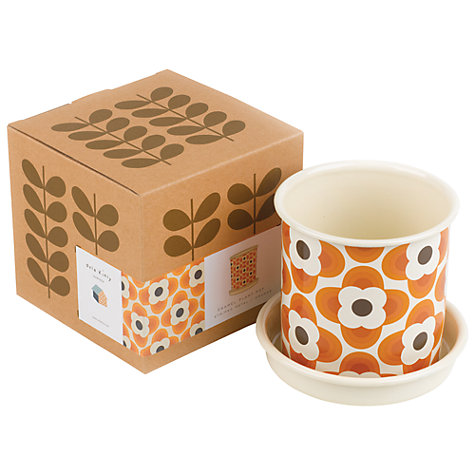 Buy Orla Kiely Gardening Plant Pot, Orange, Small Online at johnlewis.com