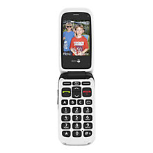 Buy Doro 612, Flip Phone, Sim Free, Black Online at johnlewis.com