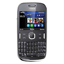 Buy Nokia Asha 302 Smartphone, Sim Free, Black Online at johnlewis.com