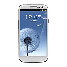 Buy Samsung Galaxy SIII Smartphone, Sim Free, White Online at johnlewis.com