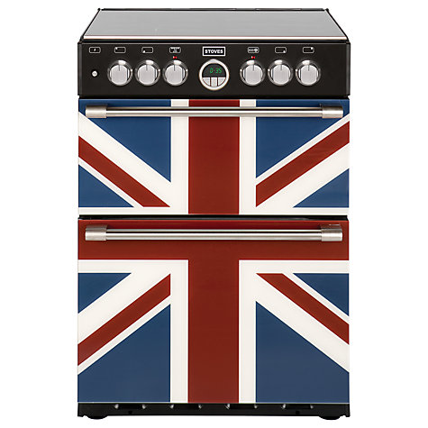 Buy Stoves Sterling 600DF Dual Fuel Cooker, Union Jack Online at johnlewis.com