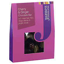 Buy James Chocolates Cherry and Ginger Mini Chocolate Bar, 40g Online at johnlewis.com