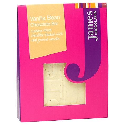 Buy James Chocolates Vanilla Bean Mini Chocolate Bar, 40g Online at johnlewis.com