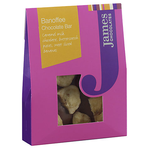Buy James Chocolates Banoffee Mini Chocolate Bar, 40g Online at johnlewis.com