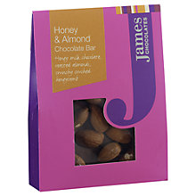 Buy James Chocolates Honey and Almond Mini Chocolate Bar, 40g Online at johnlewis.com