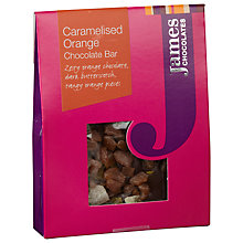 Buy James Chocolates Caramelised Orange Mini Chocolate Bar, 40g Online at johnlewis.com