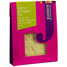Buy James Chocolates Lemon and Poppy Mini Chocolate Bar, 40g Online at johnlewis.com