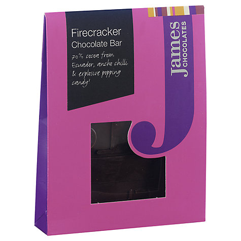 Buy James Chocolates Firecracker Mini Chocolate Bar, 40g Online at johnlewis.com
