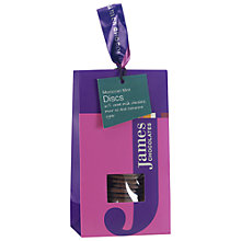 Buy James Chocolates Moroccan Mint Chocolate Discs, 100g Online at johnlewis.com