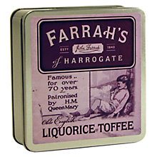 Buy Farrah's Liquorice Toffee Travel Tin, 100g Online at johnlewis.com