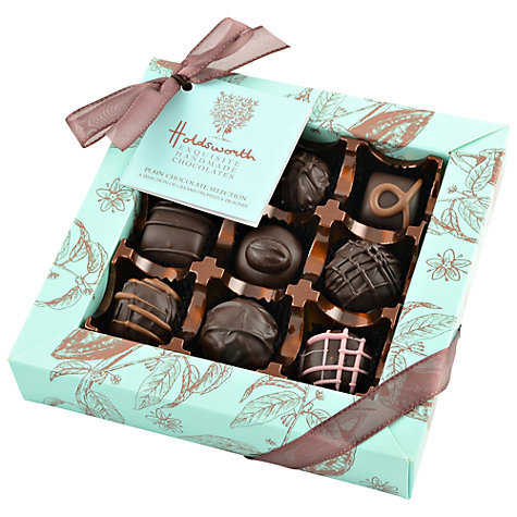 Buy Holdsworth Dark Chocolate Assortment Box, 140g Online at johnlewis.com