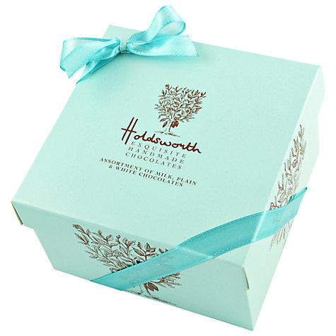 Buy Holdsworth Cube Chocolate Box, Blue, 240g Online at johnlewis.com