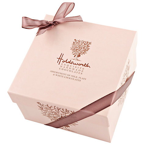 Buy Holdsworth Cube Chocolate Box, Pink, 240g Online at johnlewis.com