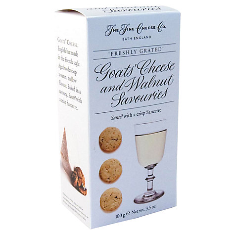 Buy The Fine Cheese Co. Goats Cheese and Walnut Biscuits, 100g Online at johnlewis.com