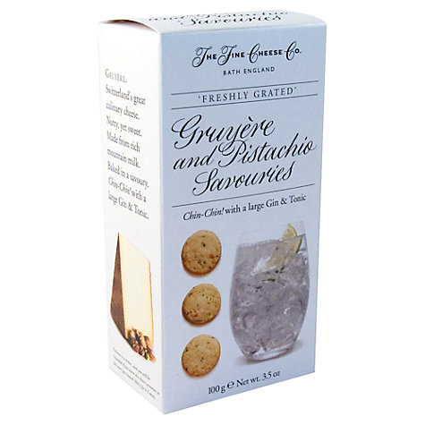 Buy The Fine Cheese Co. Gruyere and Pistachio Biscuits, 100g Online at johnlewis.com