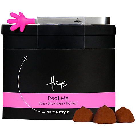 Buy Hugs Strawberry Truffles Tin, 100g Online at johnlewis.com