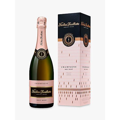 buy nicolas feuillatte brut ros champagne 75cl john lewis. Black Bedroom Furniture Sets. Home Design Ideas