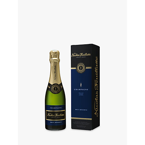 Buy Champagne Nicolas Feuillatte Brut Reserve 1/2 Bottle, 37.5cl Online at johnlewis.com