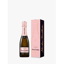 Buy Nicolas Feuillatte Brut Rose Mini Bottle of Champagne, 37.5cl Online at johnlewis.com