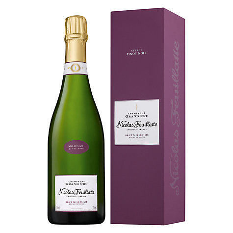 Buy Champagne Nicolas Feuillatte Grand Cru Blanc De Noir Vina, 750ml Online at johnlewis.com