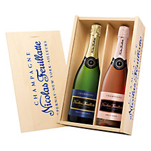 Buy Champagne Nicolas Feuillatte Brut Wooden Gift Box, 140cl Online at johnlewis.com