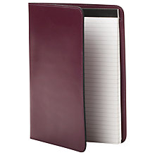 Buy Ordning & Reda Dixi Writing Pad A5 Folder, Aubergine Online at johnlewis.com