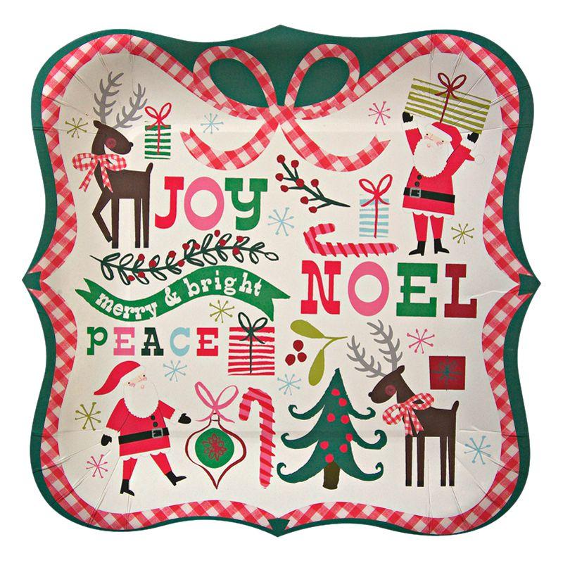 Meri Meri Christmas Plates, Pack of 12