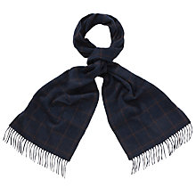 Buy Daks Lambswool Angora Check Scarf Online at johnlewis.com