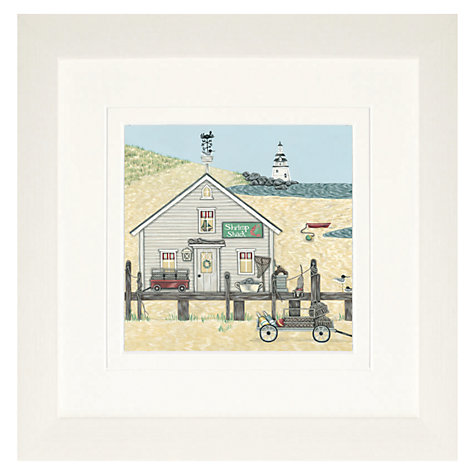 Buy Sally Swannell- Shrimp Shack Detail Framed Print, 37.5 x 37.5cm Online at johnlewis.com