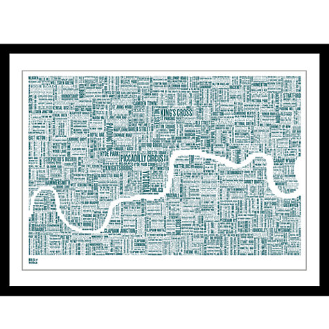 Buy Bold & Noble Thames Framed Silkscreen Print, 63 x 83cm Online at johnlewis.com