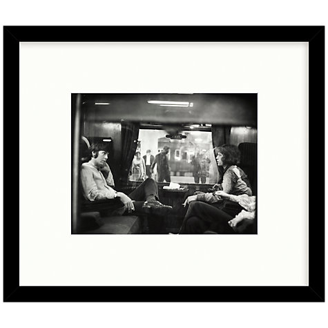 Buy Getty Images Gallery Paul McCartney & Mick Jagger First Class Travel 67 Framed Print, 47 x 60cm Online at johnlewis.com