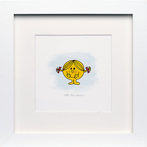Buy Roger Hargreaves- Mr. Men, Miss Sunshine Framed Print, 23.5 x 23.5cm Online at johnlewis.com